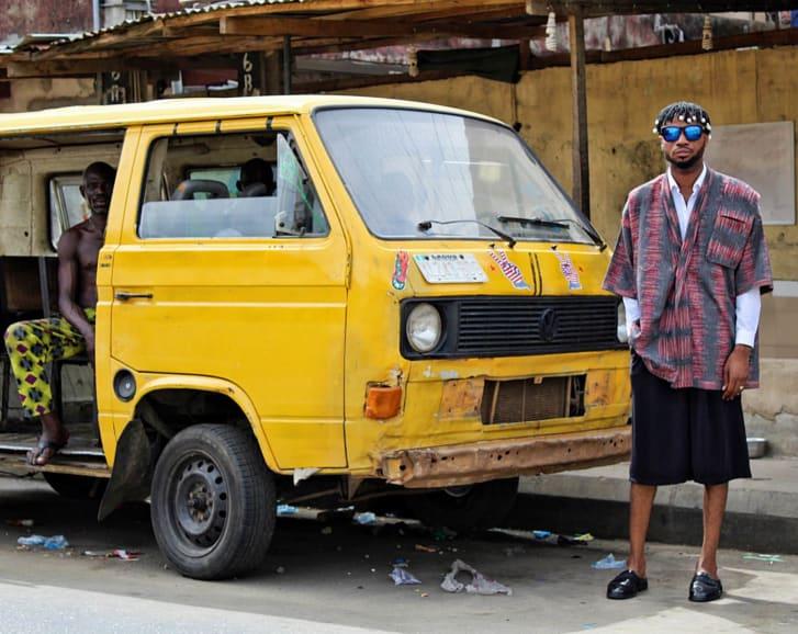 Papa Oyeyemi photographed in the district of Ikeja, in Lagos, Nigeria.