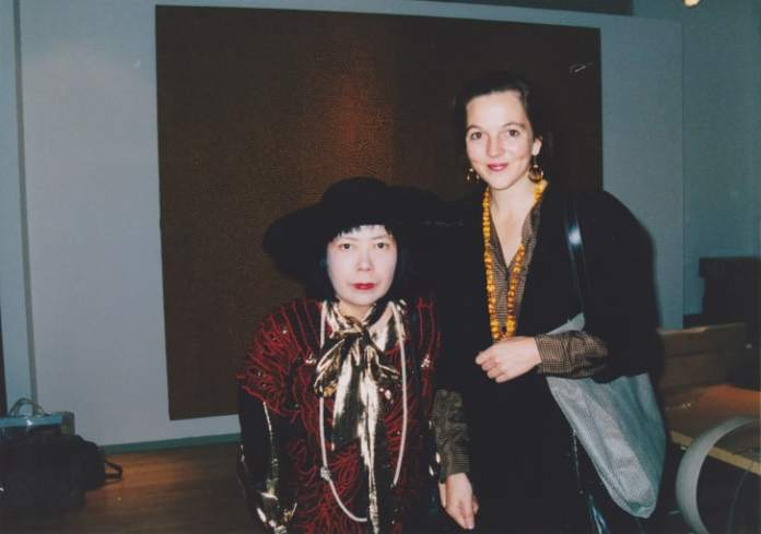 The author and Yayoi Kusama pictured together in 1989, the year of her influential first retrospective.