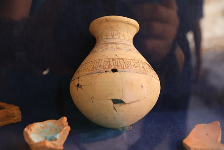 The excavation team uncovered 30 workshops used to produce items such as pottery, which were placed in the royal tombs dotting the surrounding valleys.