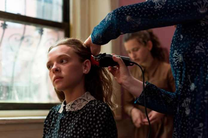 """The scene from """"Unorthodox"""" when Esty's hair is shaved."""