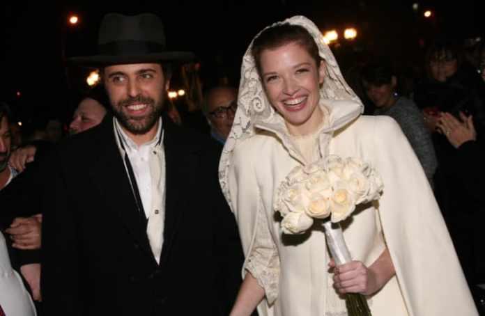 Alexei and Batsheva Hay on their wedding day.