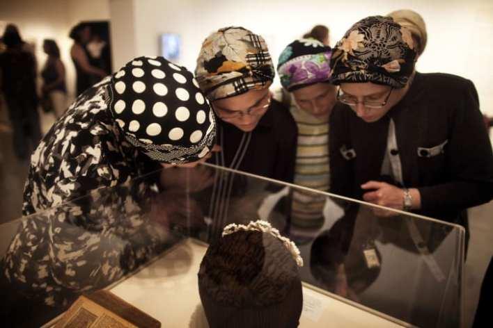 Orthodox Jewish women visit the Israel Museum in Jerusalem in 2012.