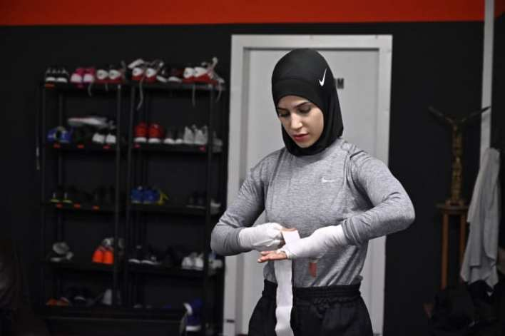 German boxer Zeina Nassar has fought to wear the hijab in the ring.