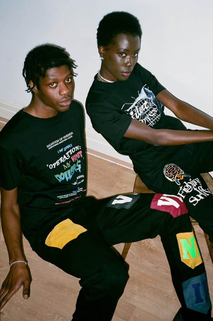 Vivendii 2020 worn by models Kola Ayeni and Biba Williams