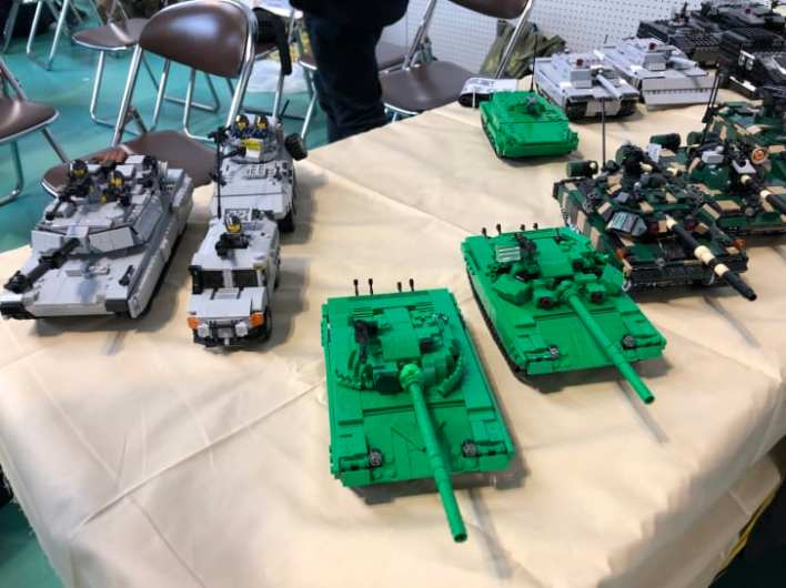 LEGO-style military models on display at Brickfest Japan 2019 in Kobe.
