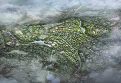 An artist's impression of the 2.7-square-mile site.