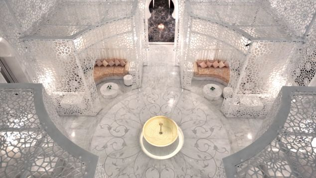 The elegant Royal Mansour is layered with intricate patterns.