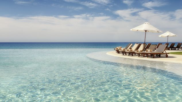 Infinity pools seem to flow right into the sea at the Marquis Los Cabos.