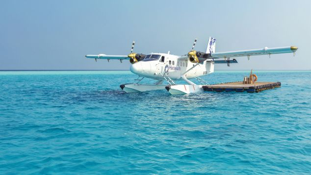 Maldives Hurawalhi Seaplane