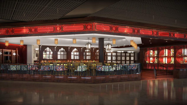 China Tang restaurant mock up - MGM Grand