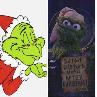Image result for the grinch and oscar the grouch