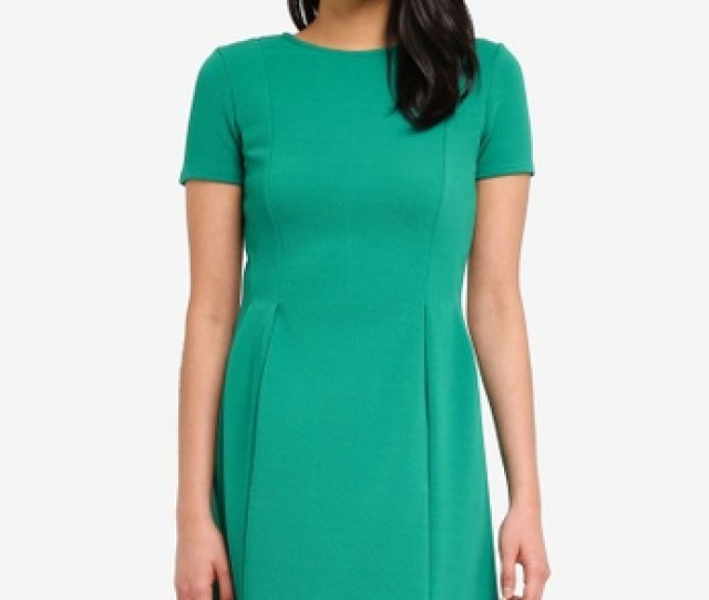 Dorothy Perkins Green Emerald Green Fit And Flare Dress Ddaaefgs_