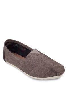 ZALORA  Casual Canvas Slip- Ons