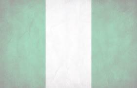 Nigerian Flag light at background image