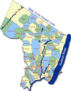 Bergen County Map