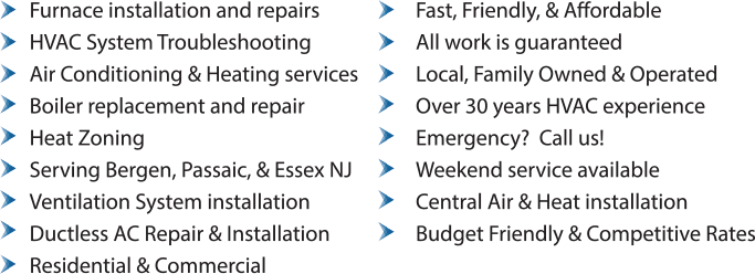 HVAC, Boilers, Furnace, & Zoning Services in Midland Park, NJ