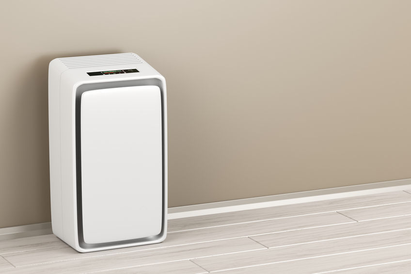 Electric air purifier in the room