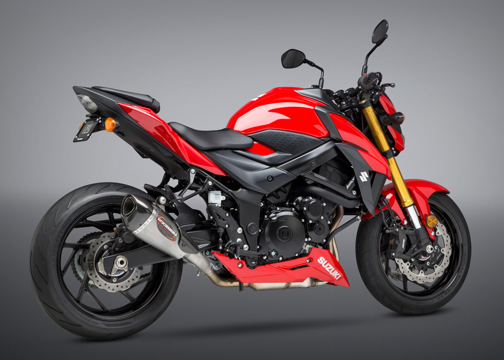 yoshimura alpha t signature so ss ss cf works finish exhaust 2018 suzuki gsx s750 dynamic cycle parts