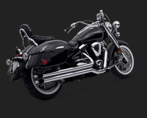 Vance & Hines Longshots for Cruisers Exhaust Chrome Yamaha