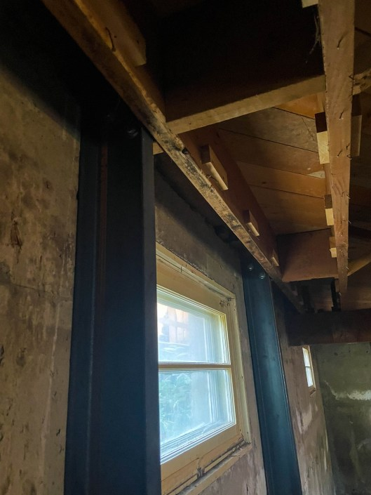 bracing a basement attaching c channels to floor joists