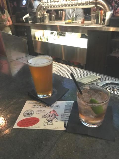 Club Soda w/bitters & lime - ZERO alcohol.