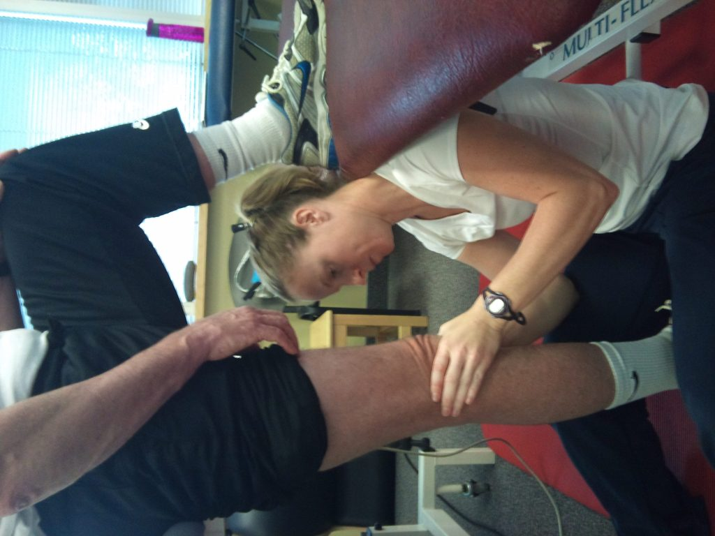 Physiotherapist providing various therapies like the bobath concept to a client in Barrie