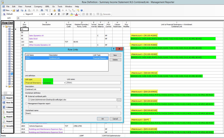 Management Reporter Excel Import