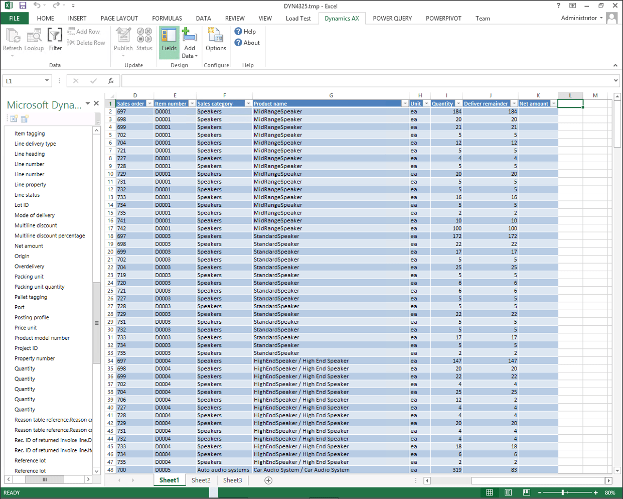 Add Additional Dynamics Ax Fields To Worksheets After