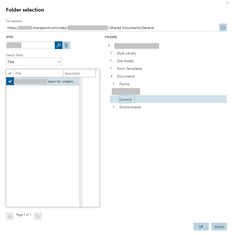 D365FO Sharepoint configuration