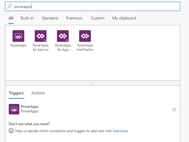 Microsoft Flow add PowerApps trigger