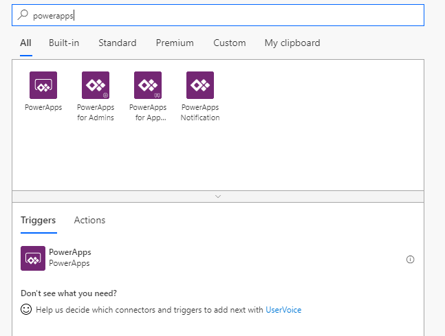 Microsoft Flow add PowerApps trigger