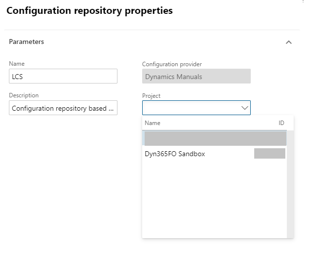 Configuration Repository properties