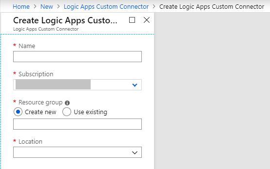 Create Logic Apps Custom Connector Empty