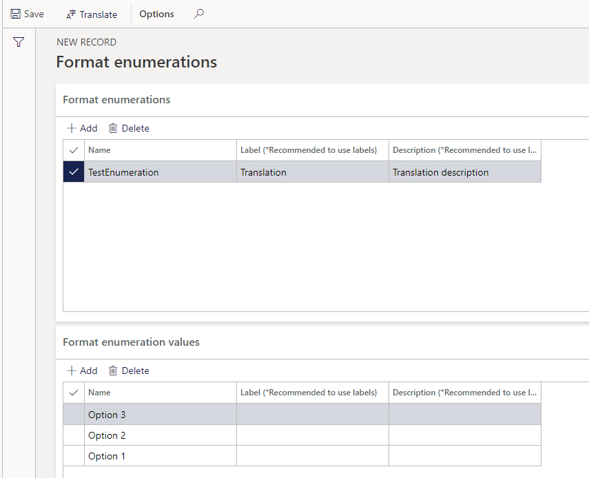 Format Enumerations