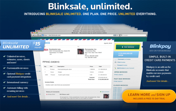 blinksale the easiest way to send invoices online dynamicweblab com