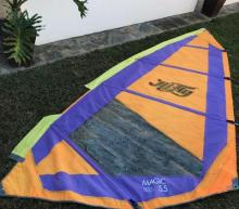 Used rig with a 5,5 sqm sail