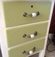 Detail of desk drawers