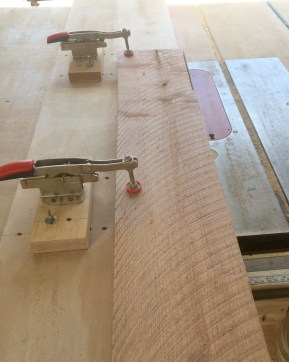 clamped board