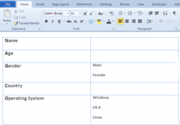 word forms03   Make A Fillable Form In Word 2010 & Collect Data The Easy Way