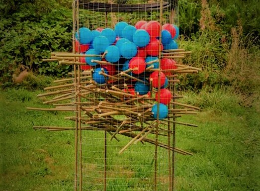 Giant Kerplunk Lawn Game
