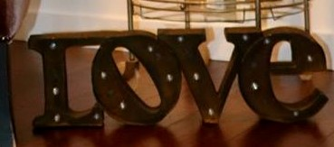 Copper Love Maquee Sign