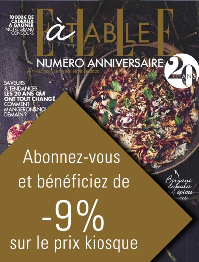 Magazine Elle à table