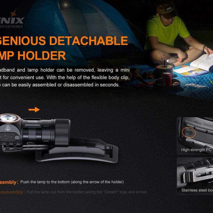 Nabíjacia LED čelovka Fenix HM51R Ruby V2.0