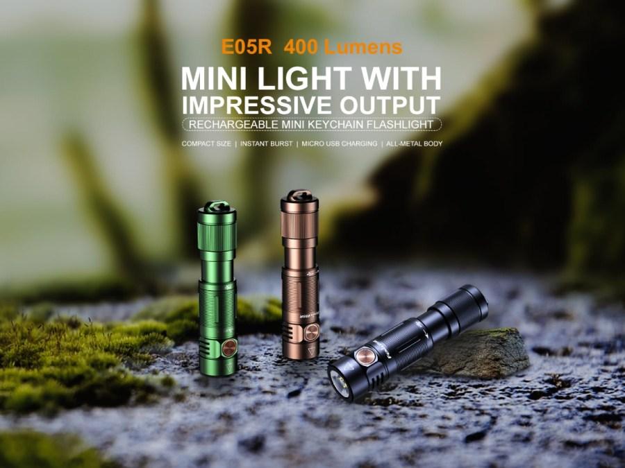 Nabíjacia LED baterka Fenix E05R