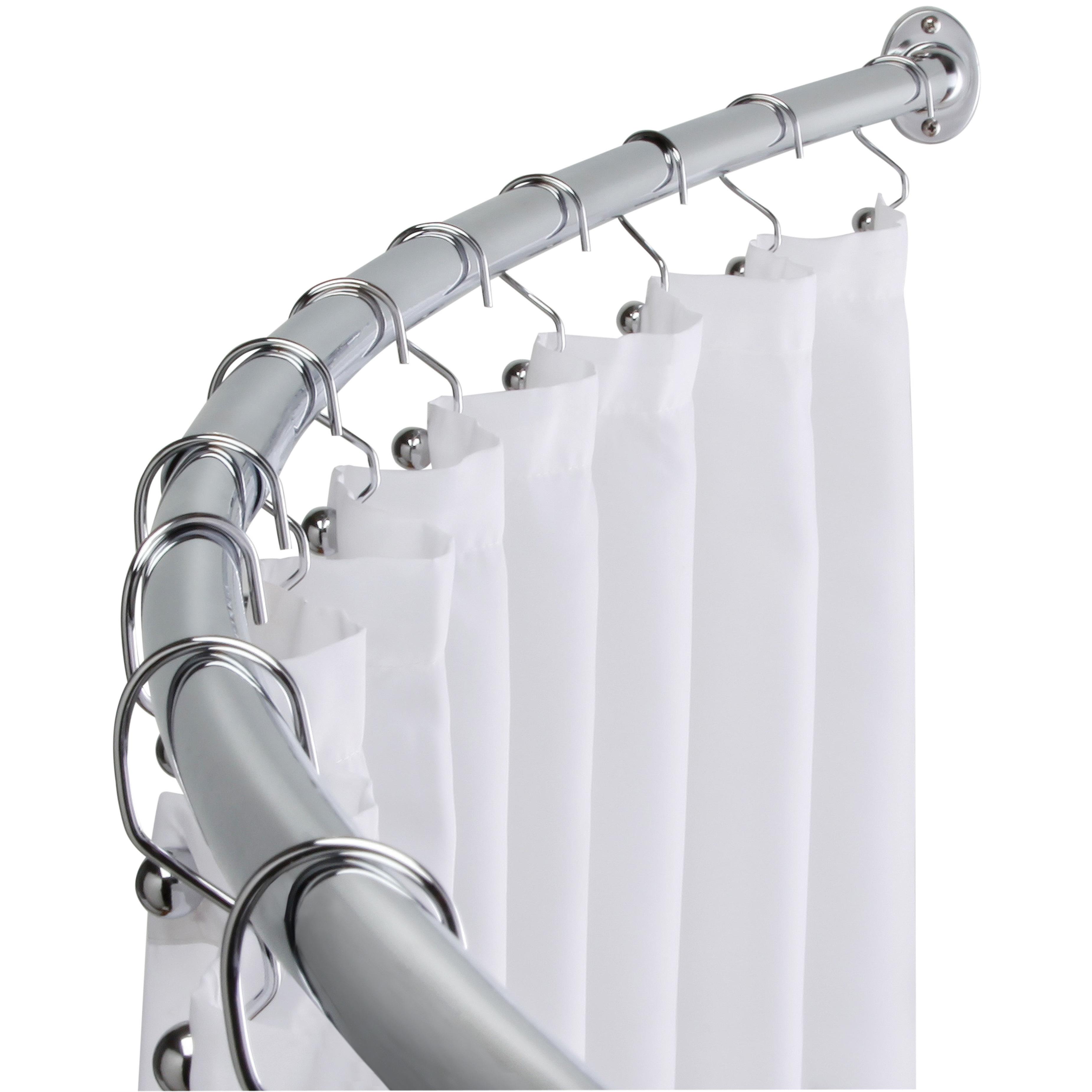 taymor adjustable curved shower curtain rod