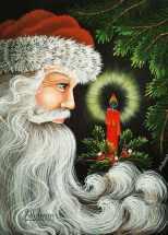 "Jill Fitzhenry ""Candle Glow Santa"""