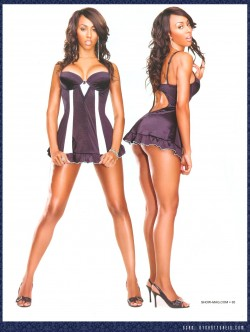 Chablee Peterson in Black Lingerie of SHOW Magazine