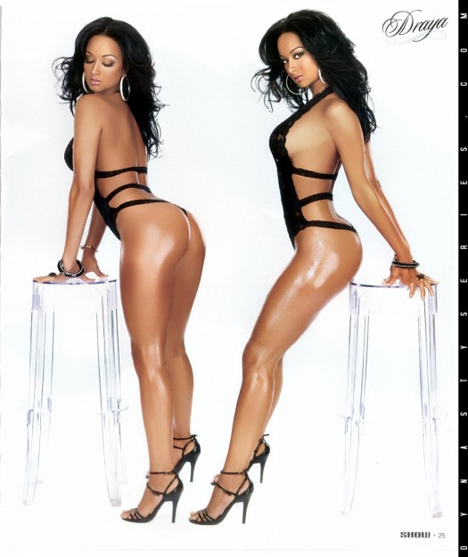 Draya in latest issue of Black Lingerie