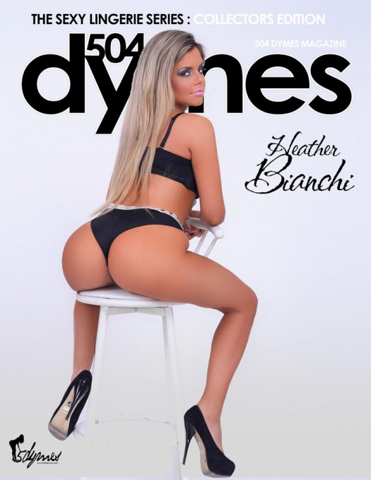 Pic of the Day: Heather Bianchi on cover of 504 Dymes - courtesy of C.E. Wiley