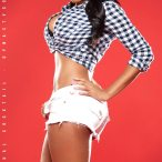 Sheneka Adams: Plaid and Cutoffs - courtesy of Visual Cocktail